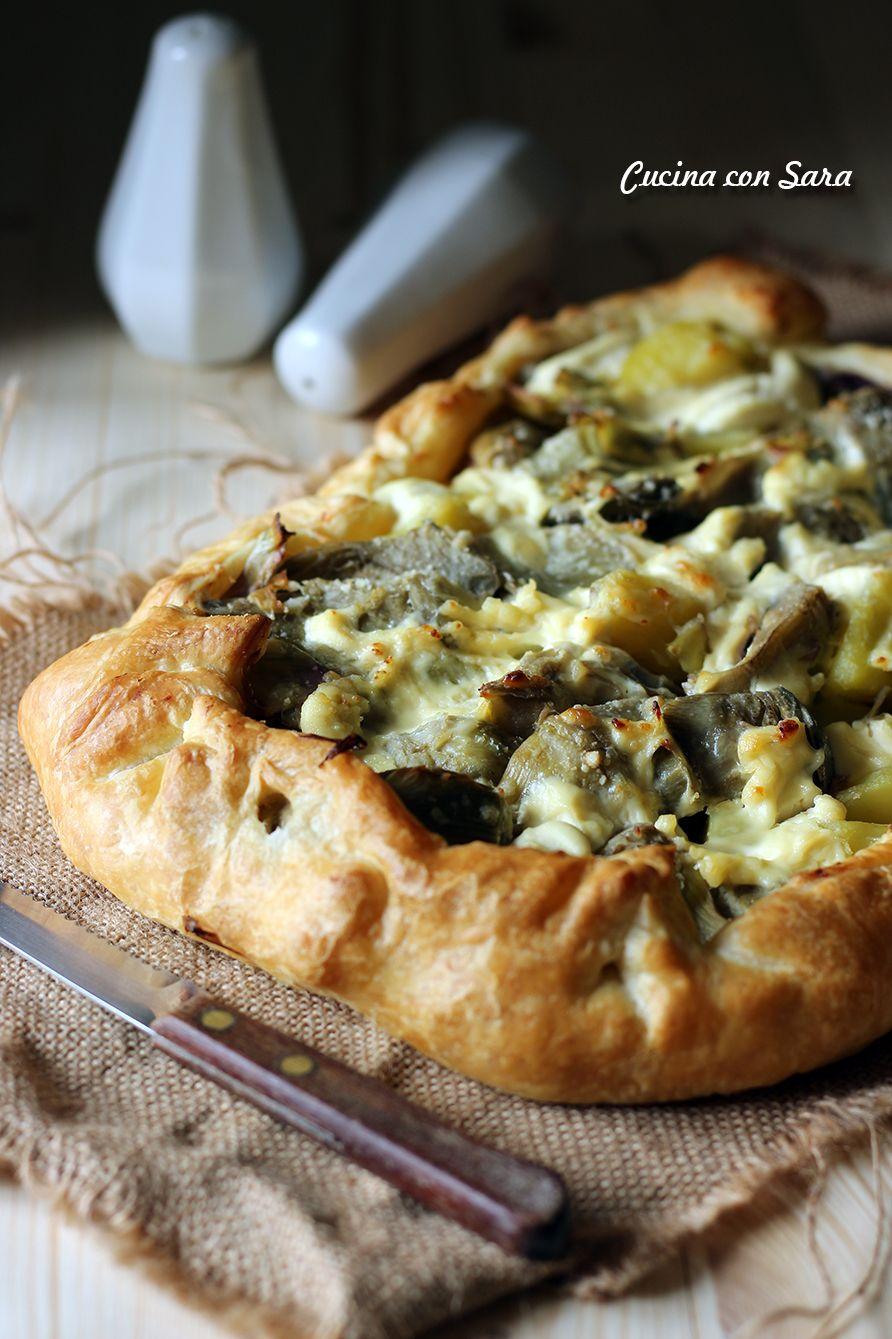 Rustico carciofi e patate, cucina con sara | cooking | Pinterest