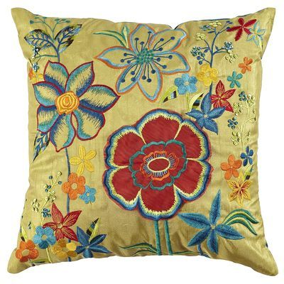 This Green Garden Pillow is another pillow I have on my bed.