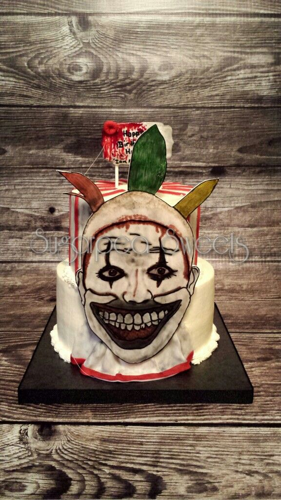 American Horror Story Themed Cake By Sugarpea Sweets Www Facebook