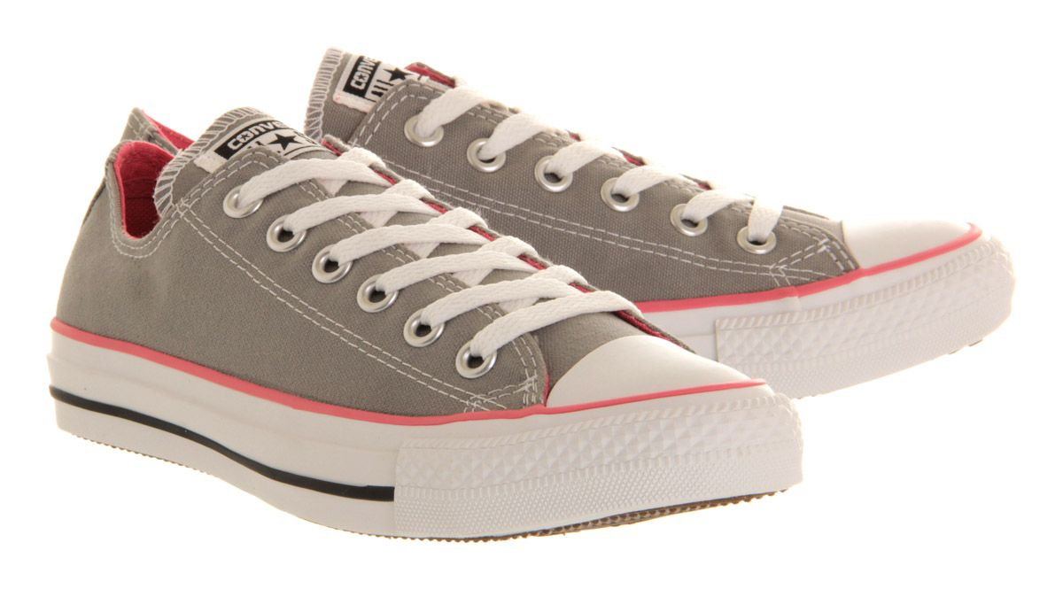 Converse All Star Low Grey Pink Canvas  3f570675e