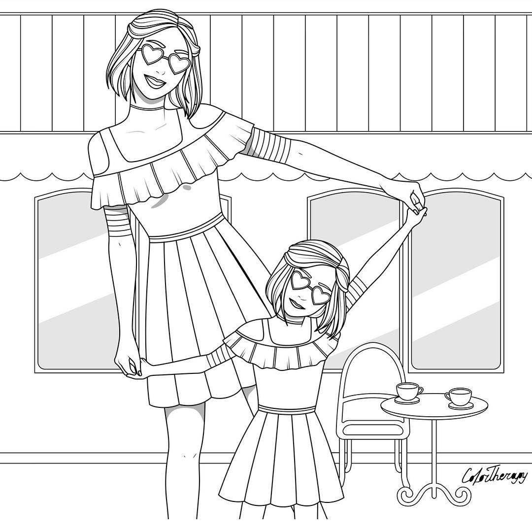 L Image Contient Peut Etre 1 Personne Dessin Mom Coloring Pages Love Coloring Pages Coloring Pages