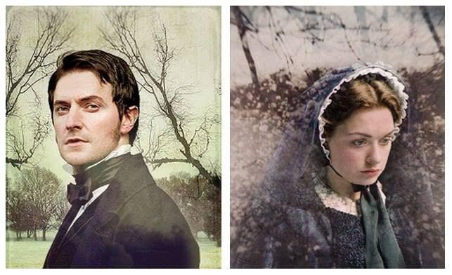 Richard Armitage (Mr. John Thornton) & Daniela Denby-Ashe (Margaret Hale) - North & South (TV, Mini-Series, 2004) #elizabethgaskell