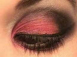 Image result for dramatic red eye makeup