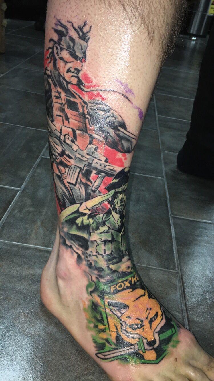 Metal Gear Solid Sleeve Tattoos Metal Gear Solid Body Tattoos