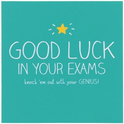 Good Luck In Your Exams Card Http Www Temptationgifts Com