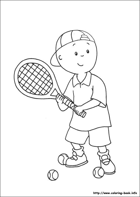 caillou coloring picture andy pinterest caillou digi stamps