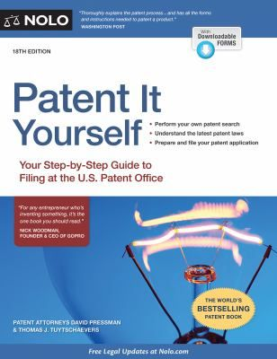 Patent It Yourself By David Pressman In 2020 Patent Office Law Books Ebook