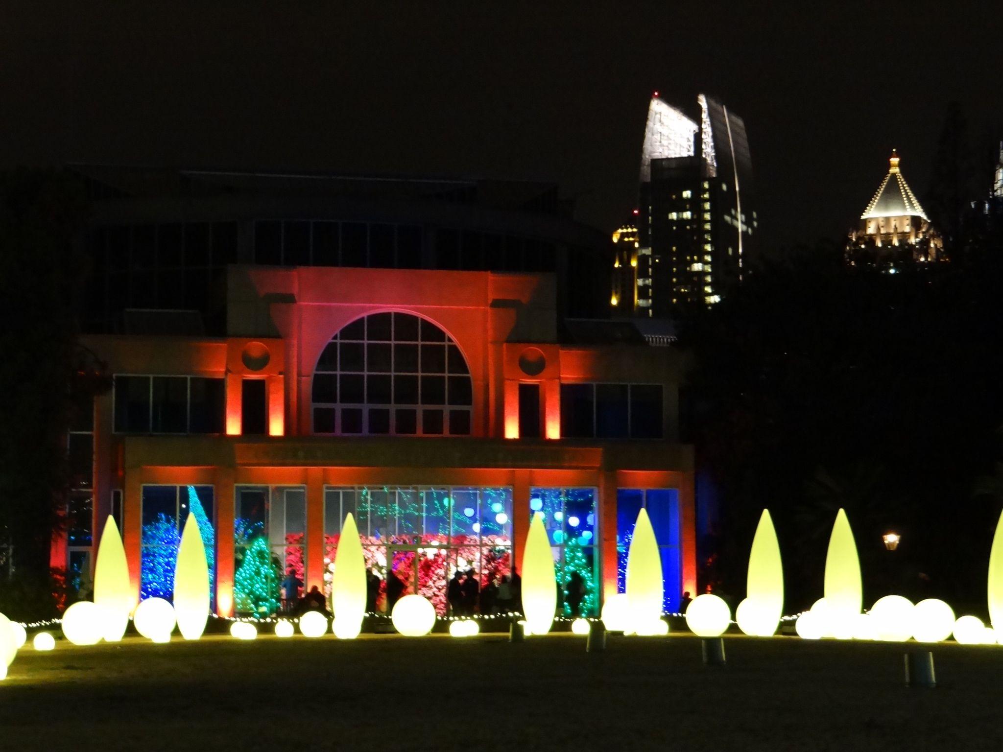 Atlanta Botanical Gardens, Garden Lights, Holiday Nights