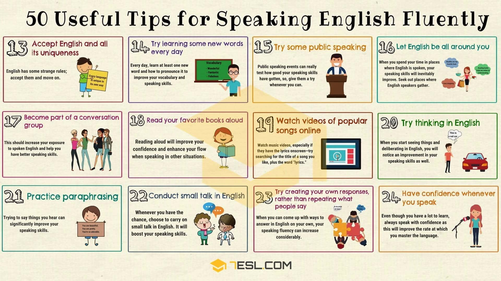 How To Speak English Fluently 50 Simple Tip 7esl Speaking Learn Definition Of Paraphrase In Language
