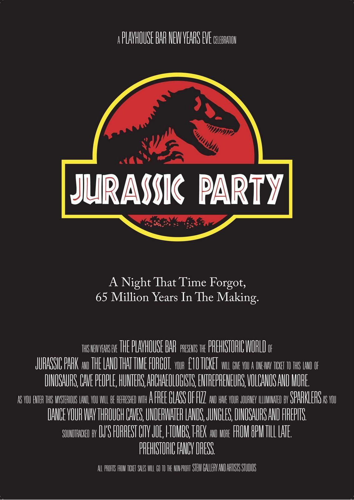 Jurassic Park Invitation Dinosaur Birthday Party