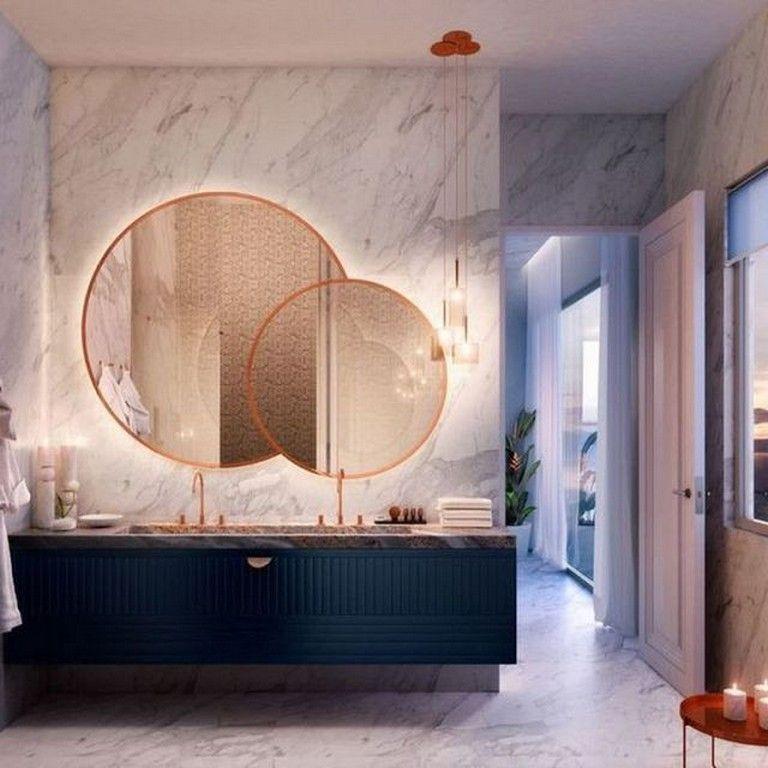 27 Cool Modern Round Mirror Designs For Bathroom Basement