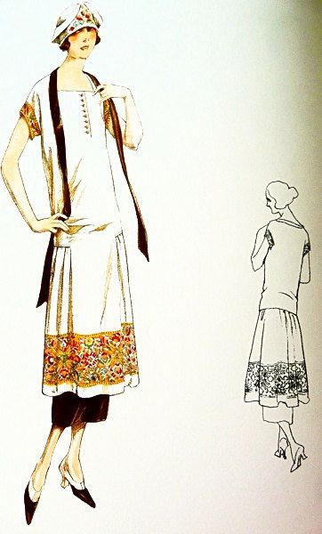 Sewing patternDress Elegant 1920s style Standard by Contrapunt ...