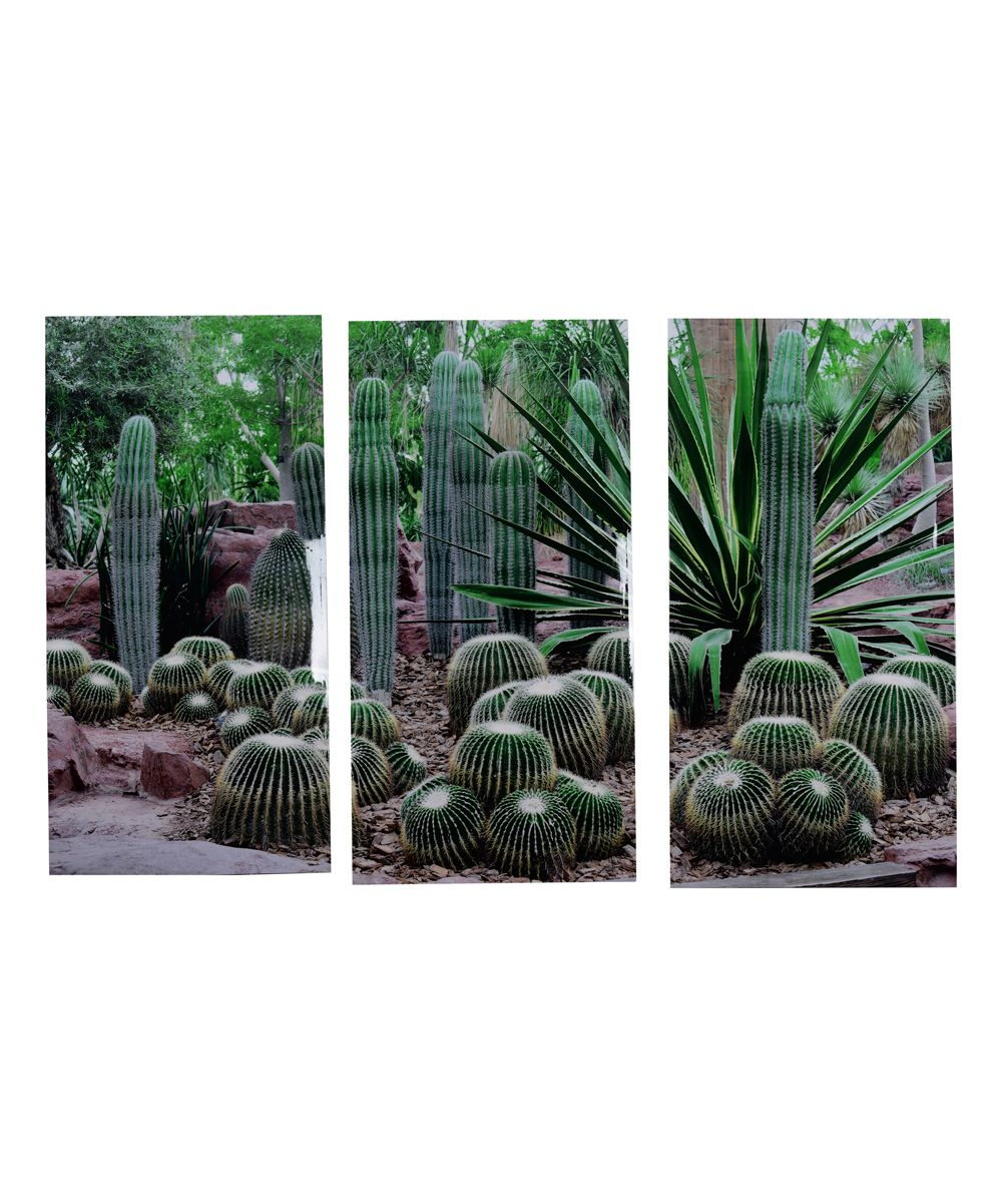 Desert Green Triptych Wall Art Set
