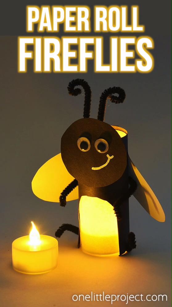 Paper Roll Firefly | How to Make Paper Roll Fireflies #ideassummer