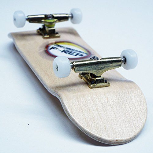 P-Rep 32mm SPACED Complete Wooden Fingerboard Kit w CNC Lathed Bearing Wheels - Maple