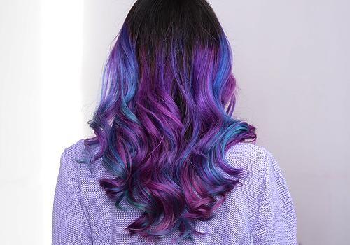 Blue Hair Tumblr Tumblr Hair Purple Hair Purple Ombre Hair