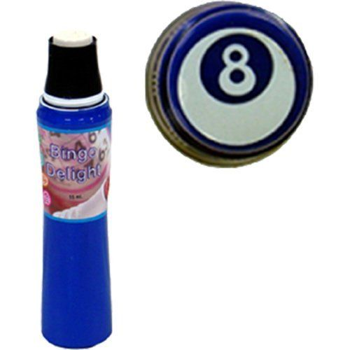 Bingo Delight Blue 8-Ball Bingo Dauber by Bingo Delight. $1.38. The design on the cap is the shape that will be daubed onto the paper. This 55ml dauber has a spring-operated tip that helps to control the amount of ink flow, and is non-refillable.