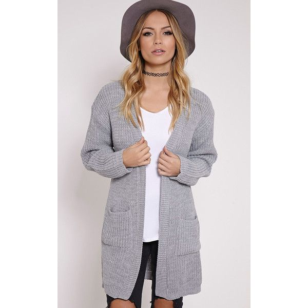 Sophia Grey Oversized Longline Cardigan ($19) ❤ liked on Polyvore ...