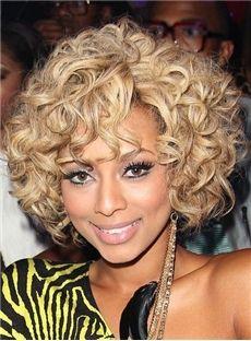 Curly 120% Women 12 Inches Capless Human Hair