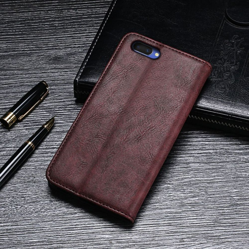 OPPO A3S Case Cover Luxury Leather Flip Case For OPPO A5