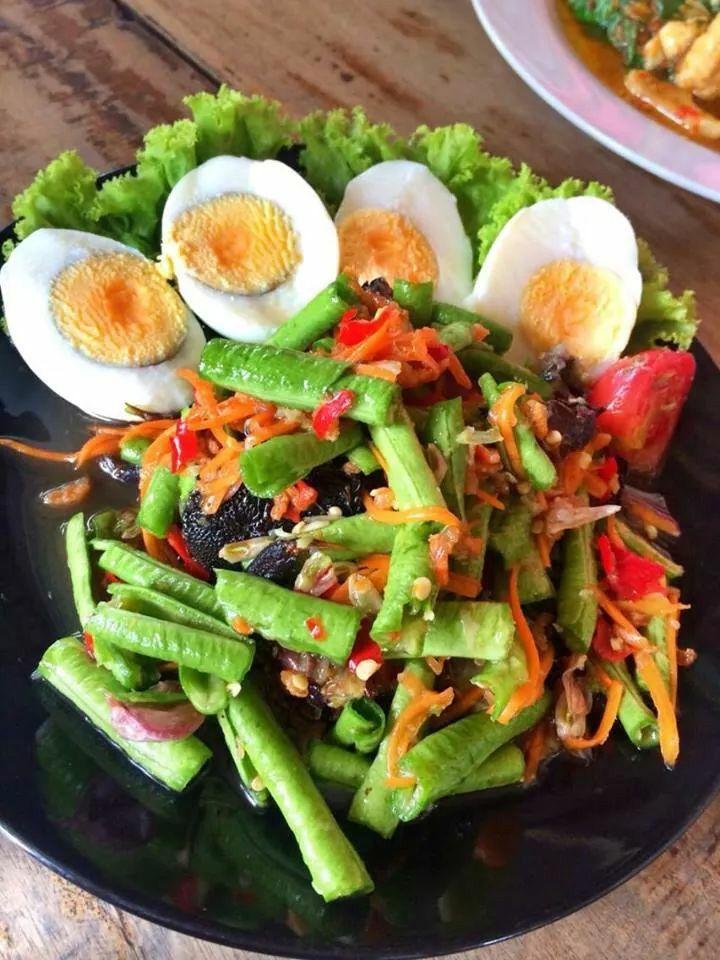 Thai food : Som tumm tua