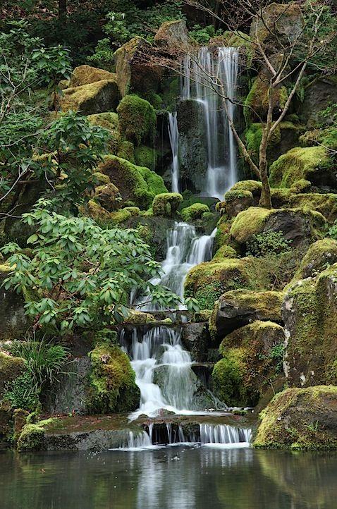 Japanese Garden, Portland, Oregon Touchpoints Pinterest - Cascadas En Jardines