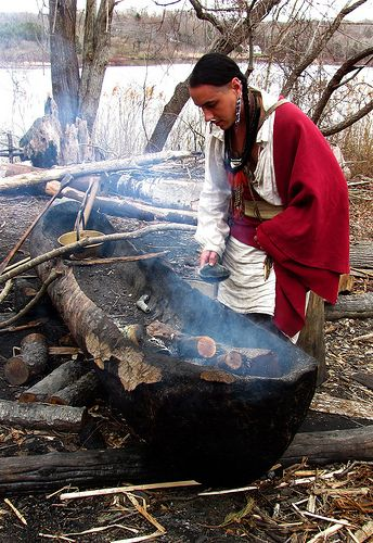 This guy told us how they actually burn the inside of trees out to make their canoes. It was pretty neat.