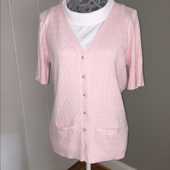 a3fe9fa5eb Talbots pink summer sweater Beautiful cable knit