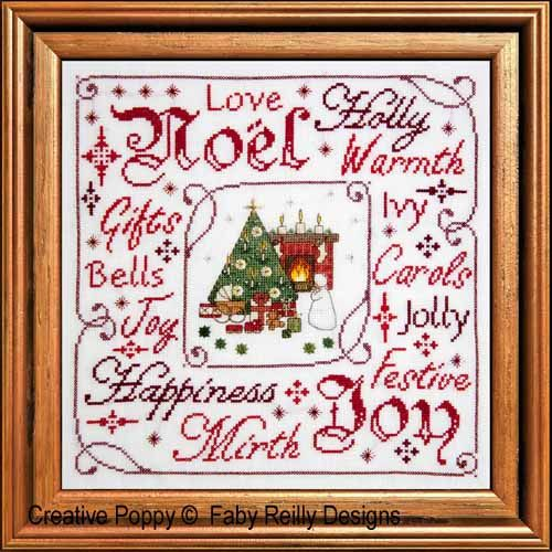 Victorian Christmas Frame cross stitch pattern by Faby Reilly