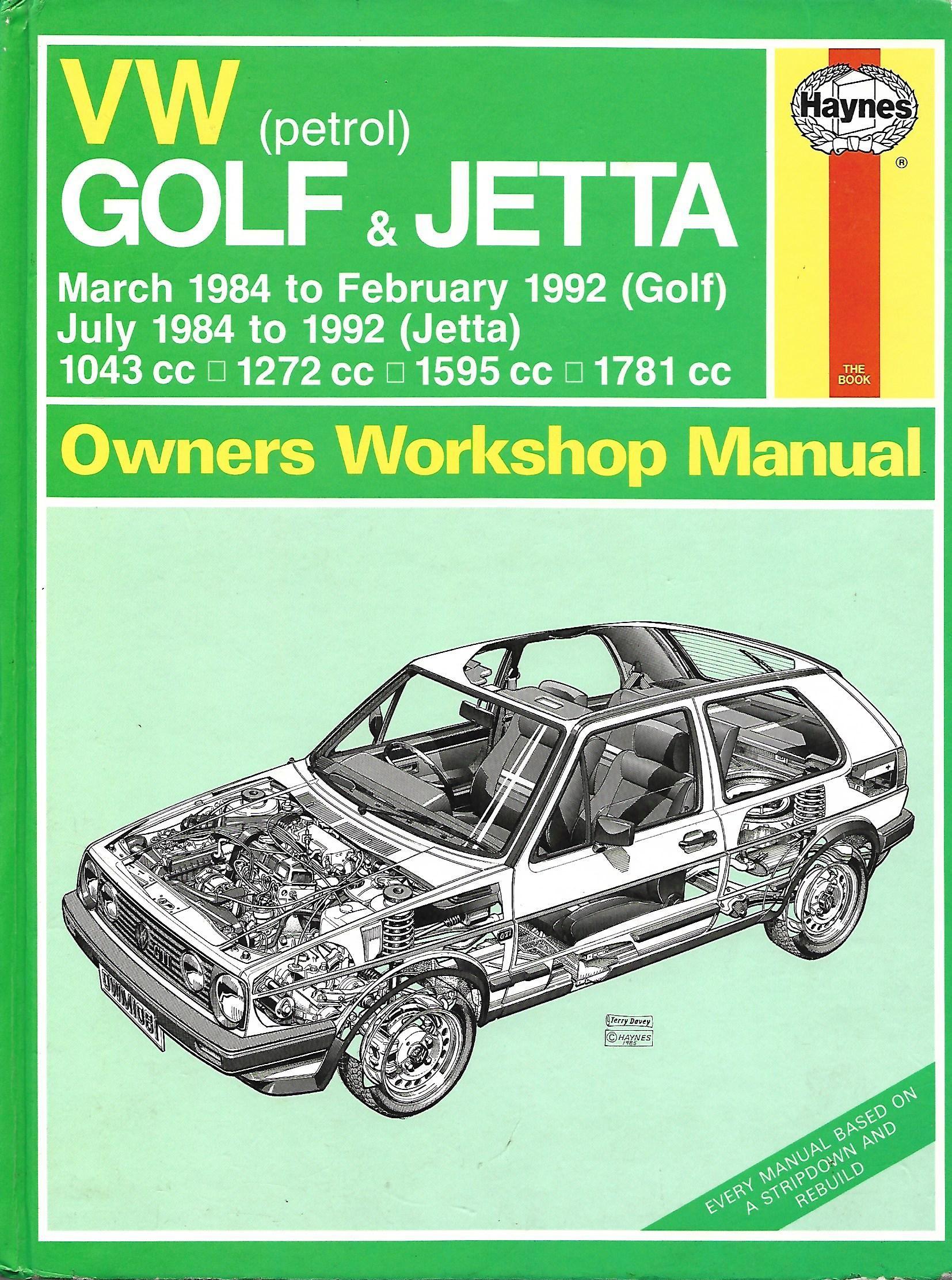 (1081) VW Golf & Jetta Mar 1984- Feb 1992