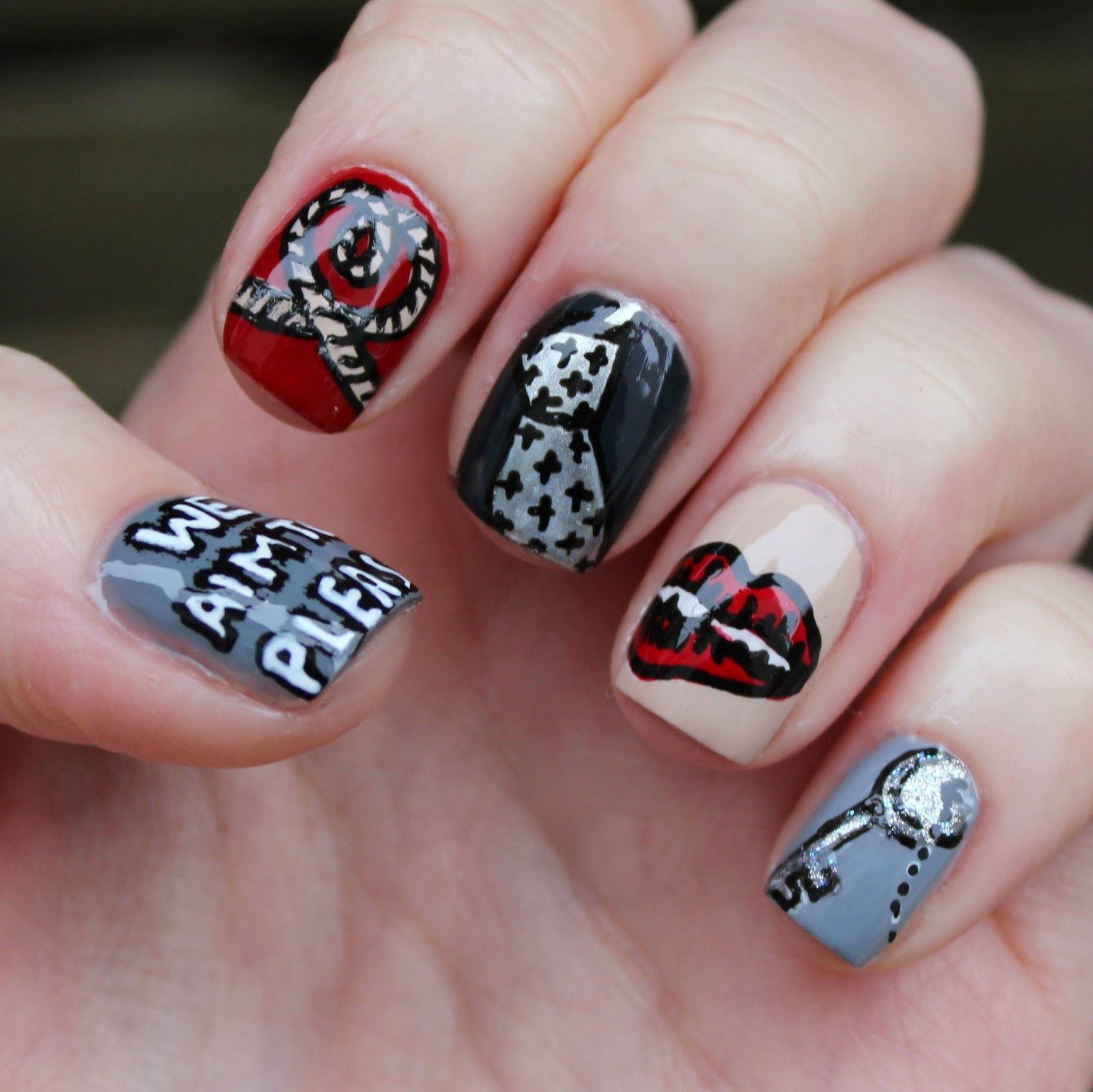 fifty shades nail art | uñazash! | pinterest | fifty shades, grey