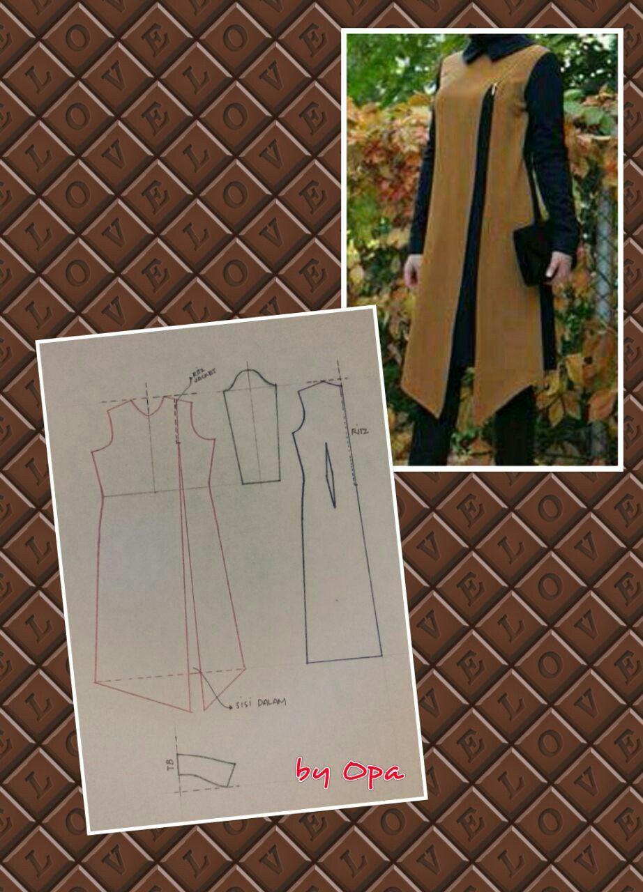 Pin by rahayu on kumpulan pecah pola opa kievlanto prasetyo diy dress sewing patterns sewing projects muslim bouquets coats ponchos tunics jackets jeuxipadfo Choice Image