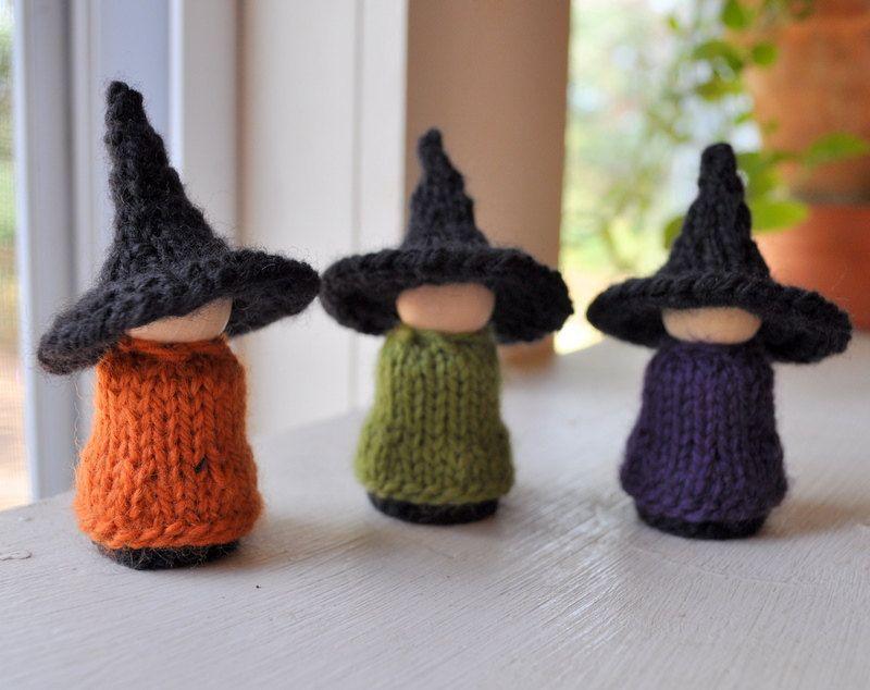 WALDORF KNITITNG PATTERN-Three Halloween Witches. $4.00, via Etsy ...