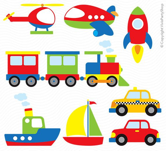 transportation clipart printable instant download png files rh pinterest com transportation clip art for kids transportation clip art borders