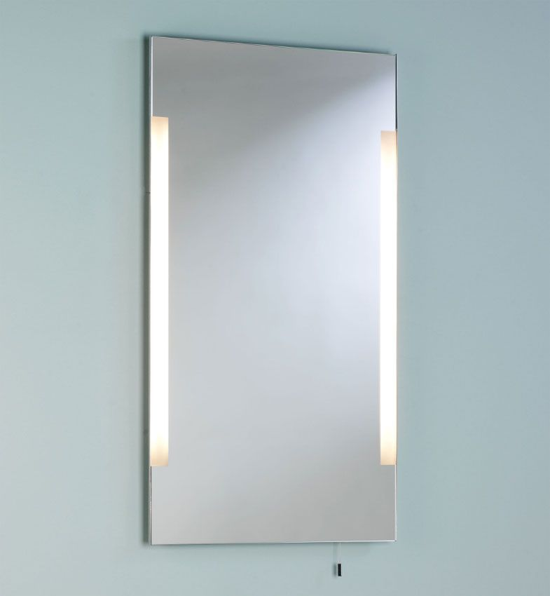 Imola Illuminated Bathroom Mirror With Pull Cord Switch Ip44 Mirror Light Mirror With Lights Pull Cord Switch Bathroom Mirror