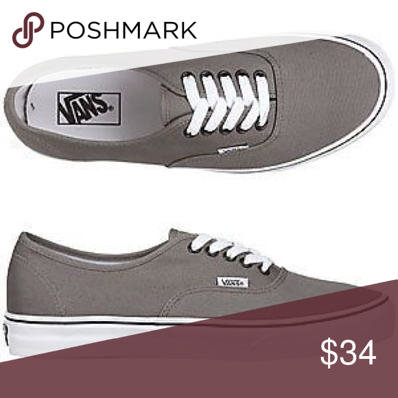 0f145123fa13ef Pewter vans with white laces Preloved lightly for a year in high school. Woman s  size