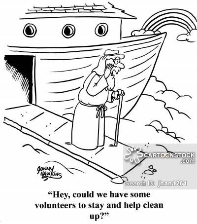 Noah calls out: 'Hey, could we have some volunteers to