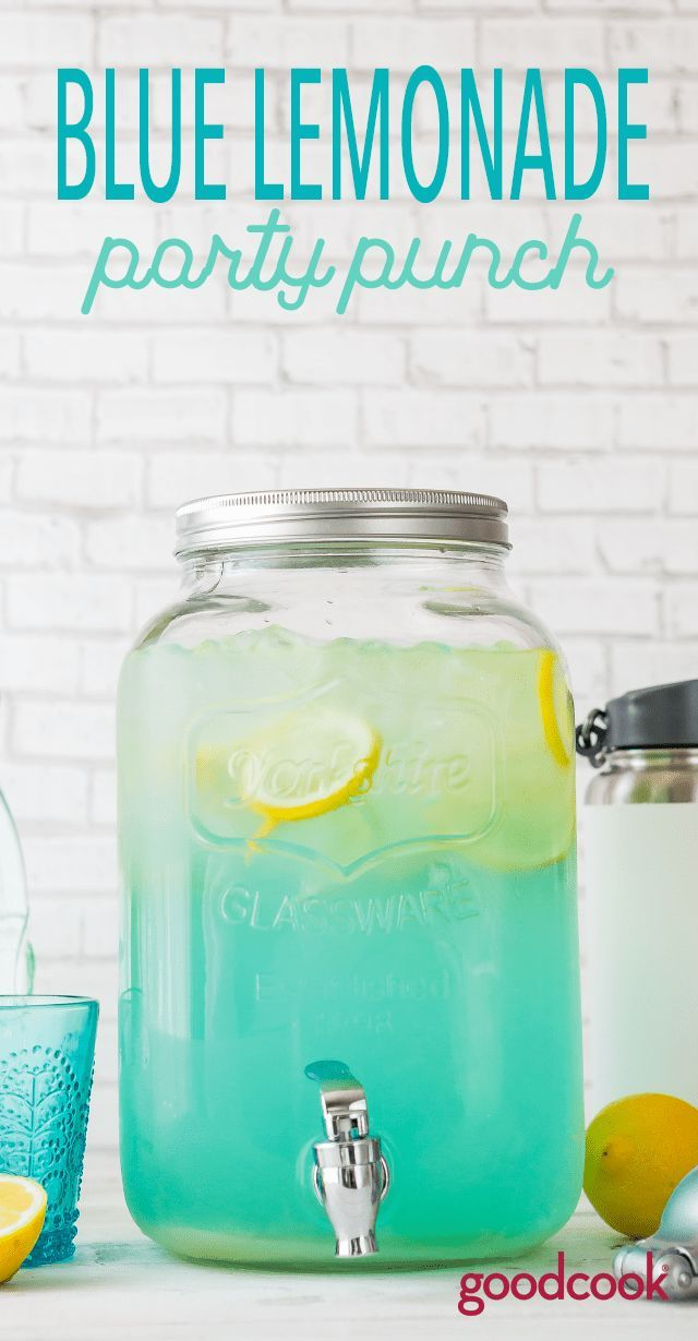 Blue Lemonade Party Punch #drinks