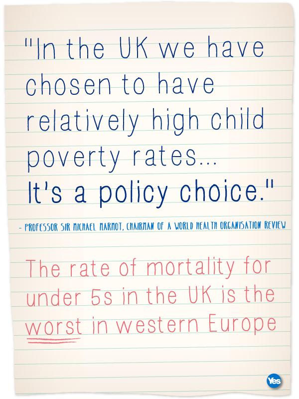 Westminster Has Chosen High Child Poverty Indyref Scotland About Uk Children Scottish Independence