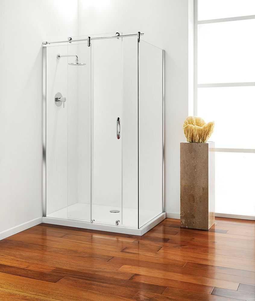 Coram Premier Frameless Sliding Shower Door With Side Panel Tray Option With Images Sliding Shower Door Shower Doors Frameless Sliding Shower Doors