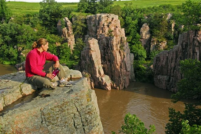 Palisades State Park offers many forms of recreation, including rock climbing.