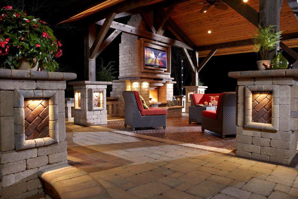 Outdoor Kitchen Kegerator Unilock Google Search Outdoor Living Patio Patio Stones