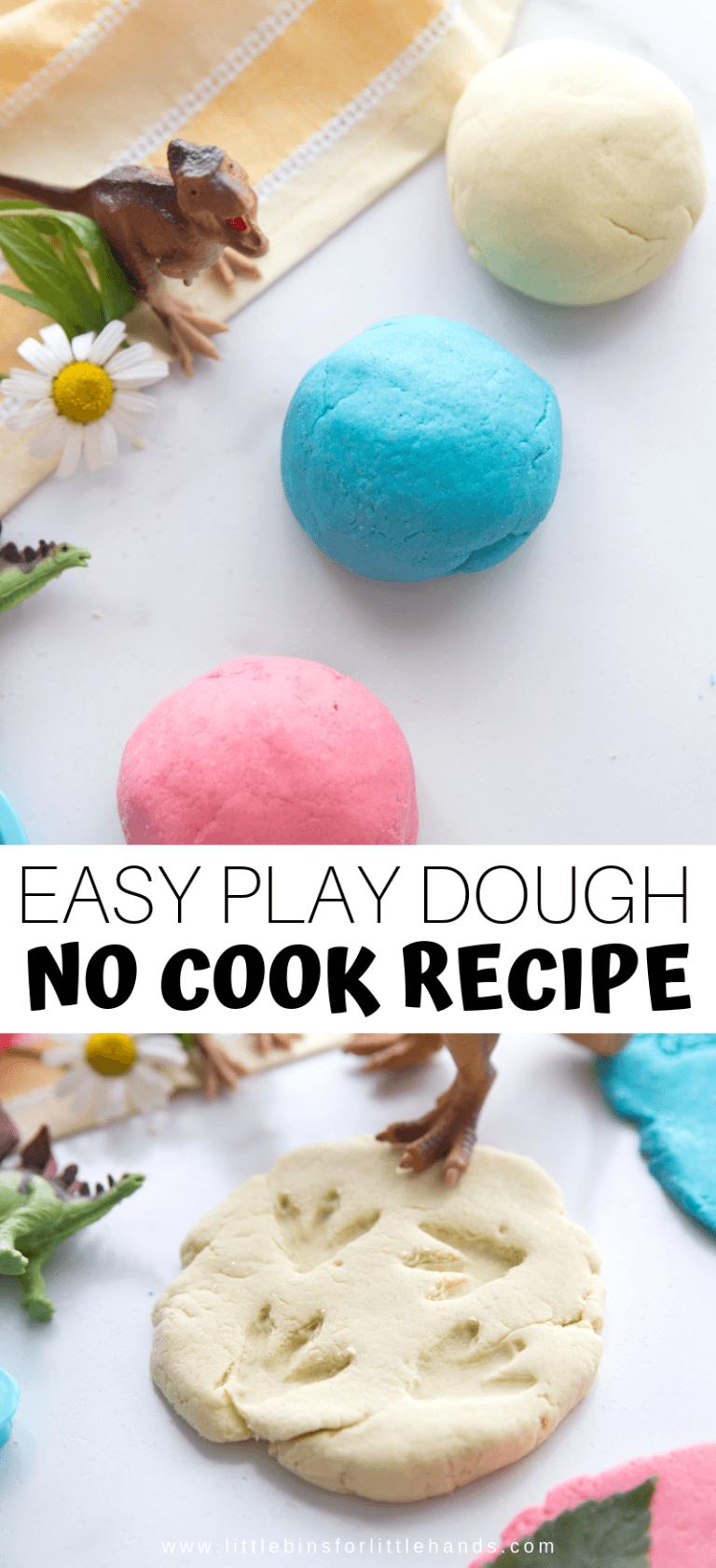 The Best No Cook Playdough Recipe! Cooked playdough