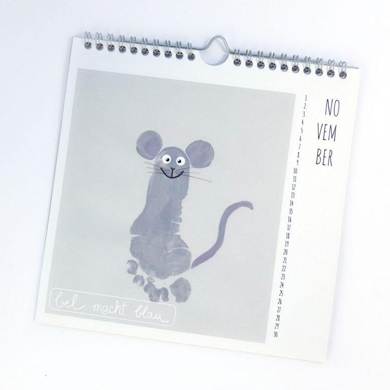 Ein Kalender mit Fußabdrücken - die besten Ideen und Tipps | bel macht blau