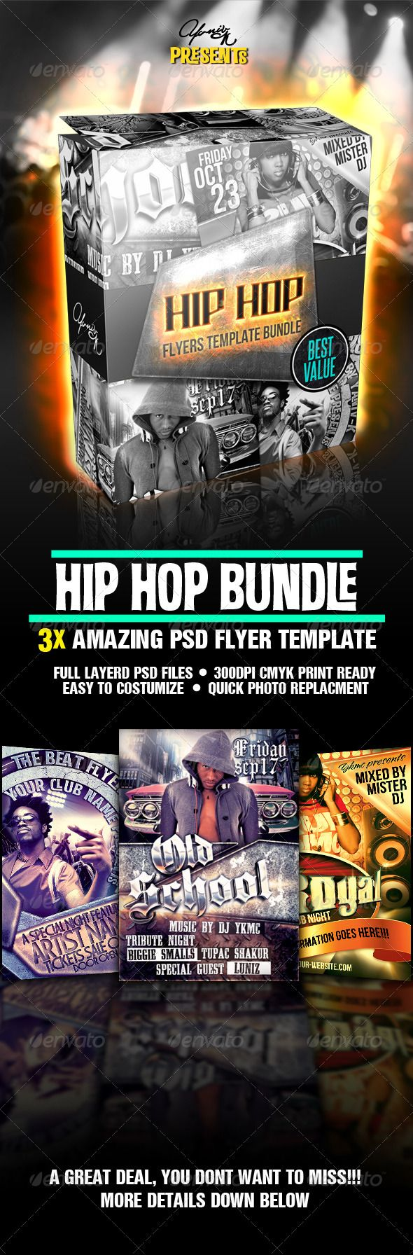 Hip Hop Flyer Bundle  Psd Flyer Templates Hip Hop And Flyer Template