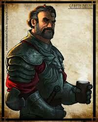 Gareth Bryne former captain- General of the queens guard in andor. Warder of siuan Sanche and husband.