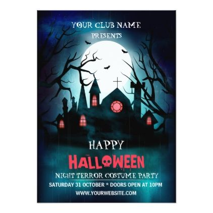 Halloween Club Party Invitation - invitations personalize custom - halloween poster ideas