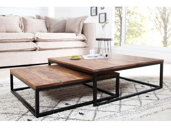 Table Basse Design En Bois Massif Sheesham Pamela лофт