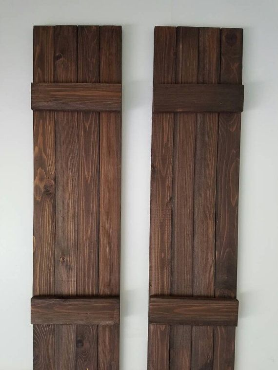 12 Inch Wide Exterior Wood Shutters Stained By Alittlecurbappeal House Shutters Wood Shutters Exterior Wood Shutters