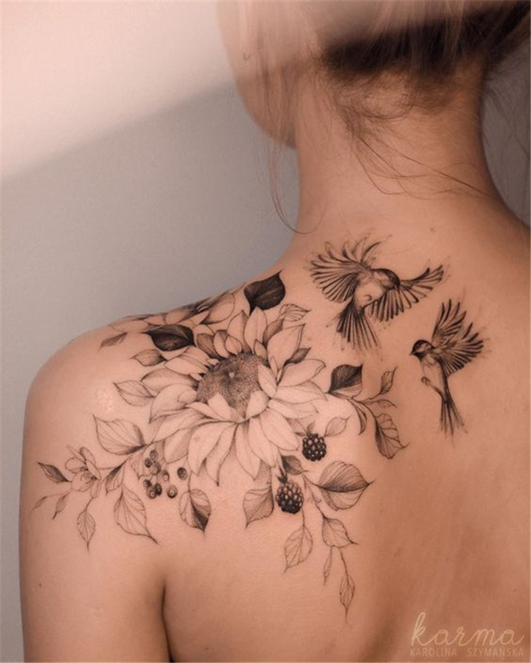 50 Gorgeous And Exclusive Shoulder Floral Tattoo Designs You Dream To Have Page 43 Of 50 In 2020 Floral Tattoo Shoulder Shoulder Tattoos For Women Tattoos